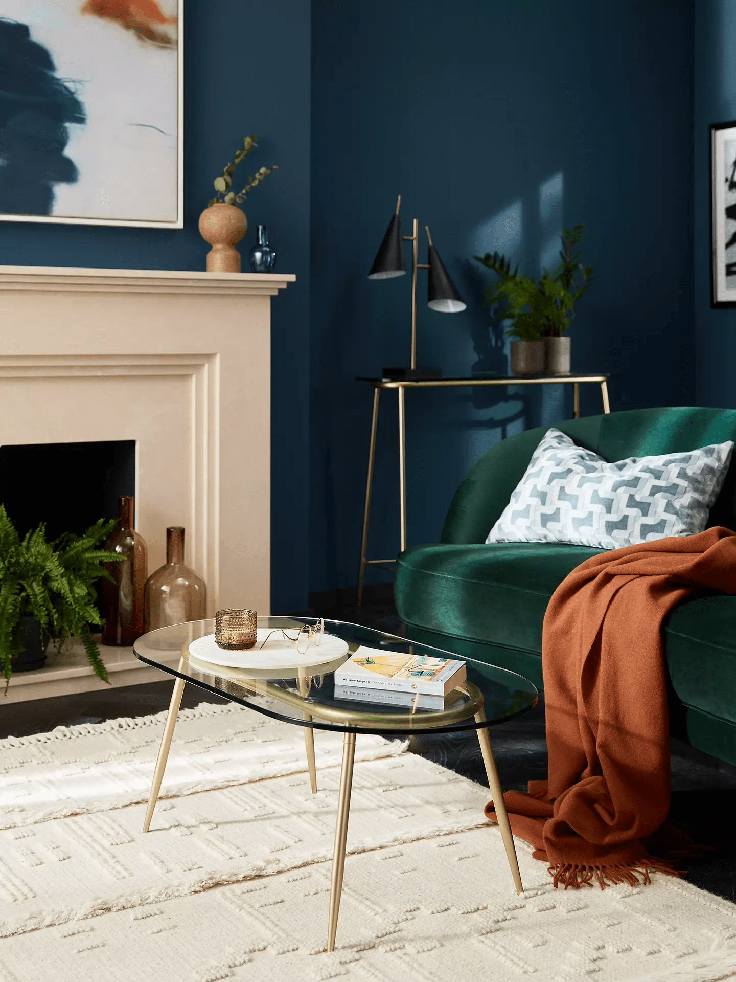 John Lewis & Partners + Swoon Urella Glass Coffee Table, ClearGold